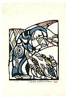 Sadao Watanabe 1913-1996 - Jesus and Birds - Story of the Bible