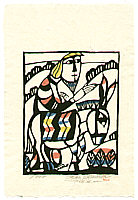 Sadao Watanabe 1913-1996 - Jesus on a Donkey - Story of the Bible