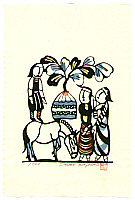 Sadao Watanabe 1913-1996 - Person Borrows a Donkey - Story of the Bible