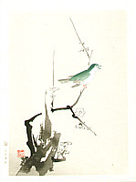 Unknown - Bush Warbler and Plum Tree