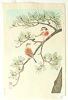 Shizuo Ashikaga fl.ca. 1950s - Birds and Pine