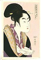 Utamaro Kitagawa 1750-1806 - Beauty Aukoi