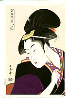 Utamaro Kitagawa 1750-1806 - Beauty Shinobu