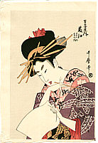 Utamaro Kitagawa 1750-1806 - Beauty Fujie