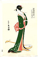 Eishi Hosoda 1756-1829 - Beauty and Shamisen