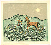 Senpan Maekawa 1888-1960 - Evening Moon and Pony