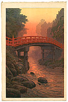 Yuhan Ito active 1930s - Sacred Bridge in Nikko