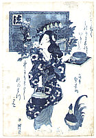 Sadakage Utagawa active ca. 1818-44 - Blue Beauty