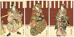 Toyokuni II Utagawa 1777-1835 - Doll Seller and Courtesan