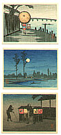 Hiroaki Takahashi 1871-1945 - Three Miniature Prints