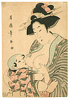 Tsukimaro Kitagawa active 1789-1829 - Mother and Child
