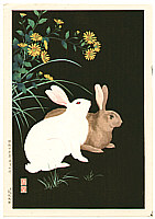Hodo Nishimura active 1930s - Rabbits