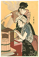 Utamaro Kitagawa 1750-1806 - Beauty in  Kitchen