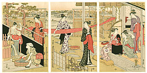 Kiyonaga Torii 1752-1815 - Washing Cloth