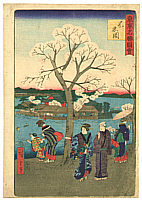 Hiroshige II Utagawa 1829-1869 - Shinobazu - Famous Places of Tokyo