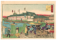 By Hiroshige III Utagawa 1842-1894 - Nihonbashi and Edobashi