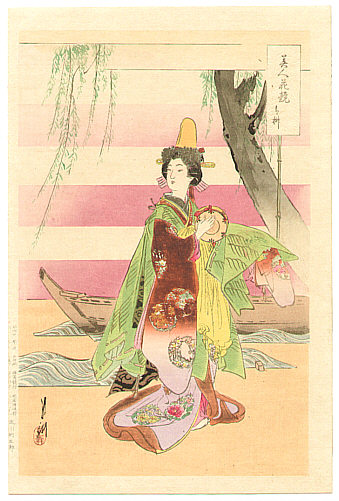 Gekko Ogata 1859-1920 - Dancer - Bijin Hana Kurabe