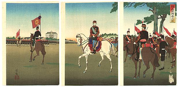 By Kiyochika Kobayashi 1847-1915 - Emperor Meiji