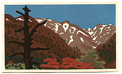 Masao Maeda 1904-1974 - Mountains in Nikko