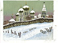 Yasu Kato born 1907 - Suzdal in Snow