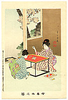 Shuntei Miyagawa 1873-1914 - Embroidery   - Yukiyo no Hana
