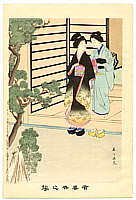 Shuntei Miyagawa 1873-1914 - Going Out  - Yukiyo no Hana