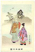 Shuntei Miyagawa 1873-1914 - Outing  - Yukiyo no Hana