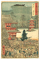 Hiroshige Ando 1797-1858 - Asakusa Market - Sixty-odd Famous places of Japan