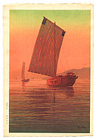 Yuhan Ito active 1930s - Boats in the Sunset Glow