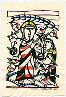 Sadao Watanabe 1913-1996 - Jesus Preaches Disciples - Story of the Bible