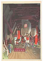Eisho Narazaki 1864-1936 - Interior of Asakusa Temple