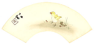Seiho Takeuchi 1864-1942 - Chicken on a Stroll