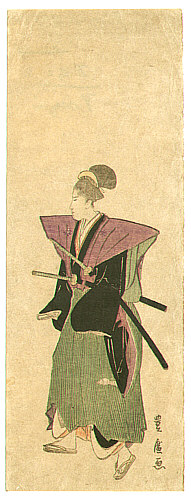 By Toyohiro Utagawa 1773-1828 - Samurai