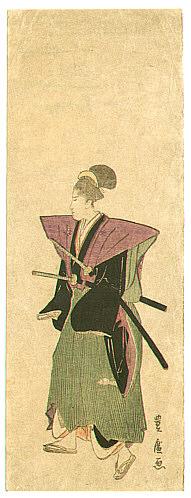 By Toyohiro Utagawa 1773-1828 - Samurai