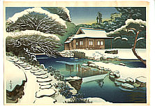 Bakufu Ono 1888-1976 - Tea House in the Snow
