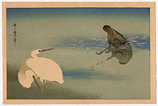 Utamaro Kitagawa 1750-1806 - Egrets and Cormorant