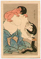 Utamaro Kitagawa 1750-1806 - Combing Hair with Baby