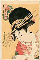 Utamaro Kitagawa 1750-1806 - Writing Beauty