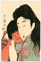 Utamaro Kitagawa 1750-1806 - Yamauba and Kintaro