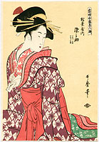 Utamaro Kitagawa 1750-1806 - Beauty Somenosuke