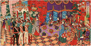 Nobukazu Watanabe 1874-1944 - Silver Anniversary of Emperor and Empress Meiji