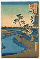 Hiroshige Ando 1797-1858 - Basho's Hut - One Hundred Famous Views of Edo