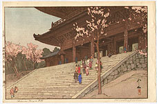 Hiroshi Yoshida 1876-1950 - Chion-in Temple (Jizuri)