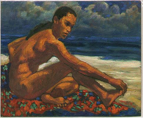 Sunbathing - Pranoto Ahmad Raji born 1952