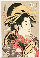 Eisui Ichirakusai active ca. 1790-1823 - Courtesan and Drum