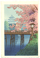 Yuhan Ito active 1930s - Cherry Blossoms and Castle