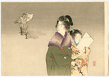 Toshimine Tsutsui 1863-1934 - Mother and Child