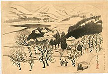 Bakufu Ono 1888-1976 - Snowy Landscape