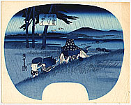 Hiroshige Ando 1797-1858 - Abe River - List of Rivers along the Tokaido