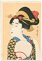 Utamaro Kitagawa 1750-1806 - Bijin With a Fan
